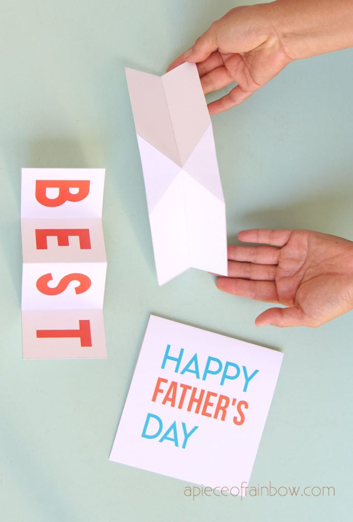 pop up mechanism for Happy Father's Day Card