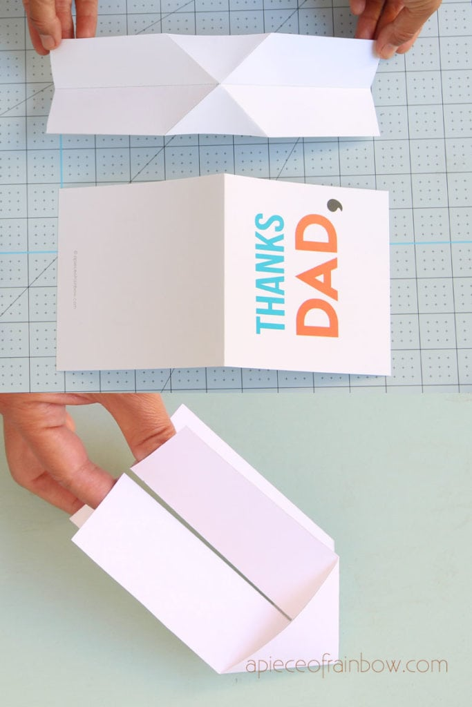 Fold pop up card mechanism