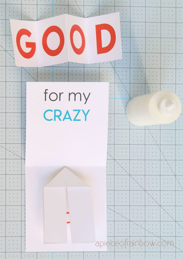 Glue DIY pop up Father's Day card