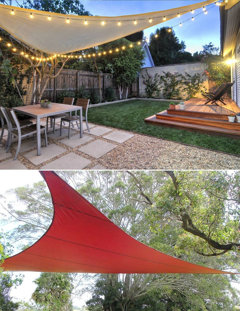Shade sails patio cover ideas
