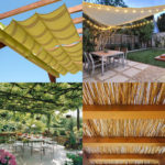 12 creative & attractive shade structures & patio cover ideas such as DIY friendly fabric canopy, shade sails, simple pergolas, vines for sun shades, etc! – A Piece of Rainbow