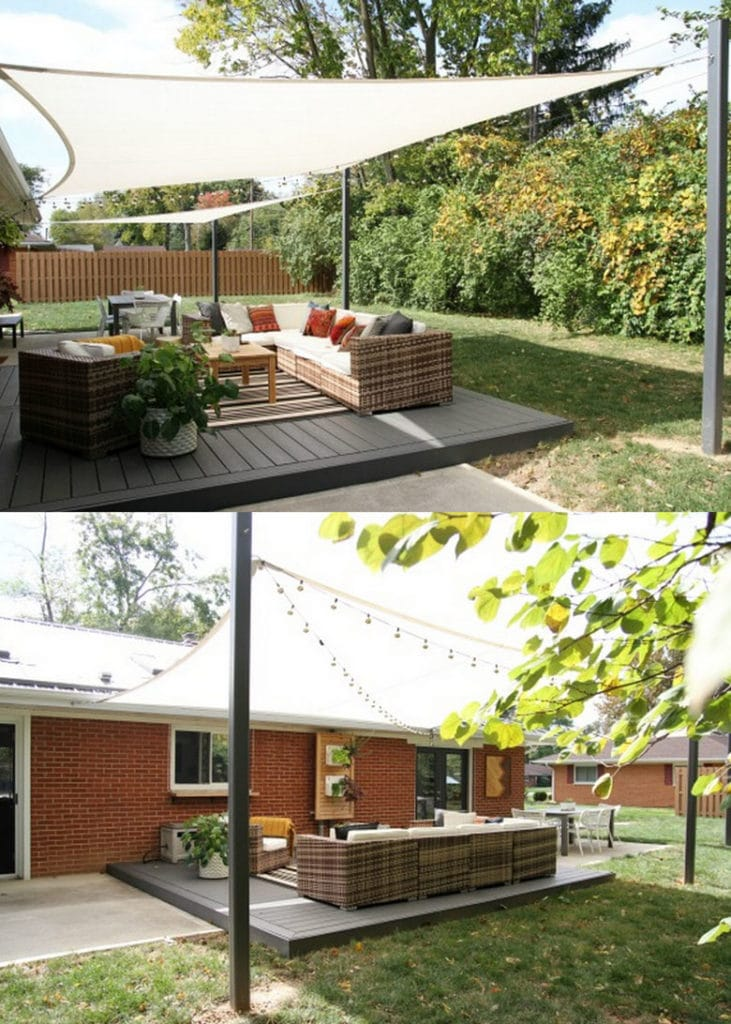 DIY backyard shade sails