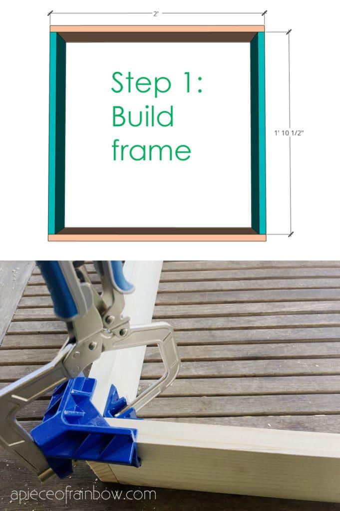 build floating wall shelf frame