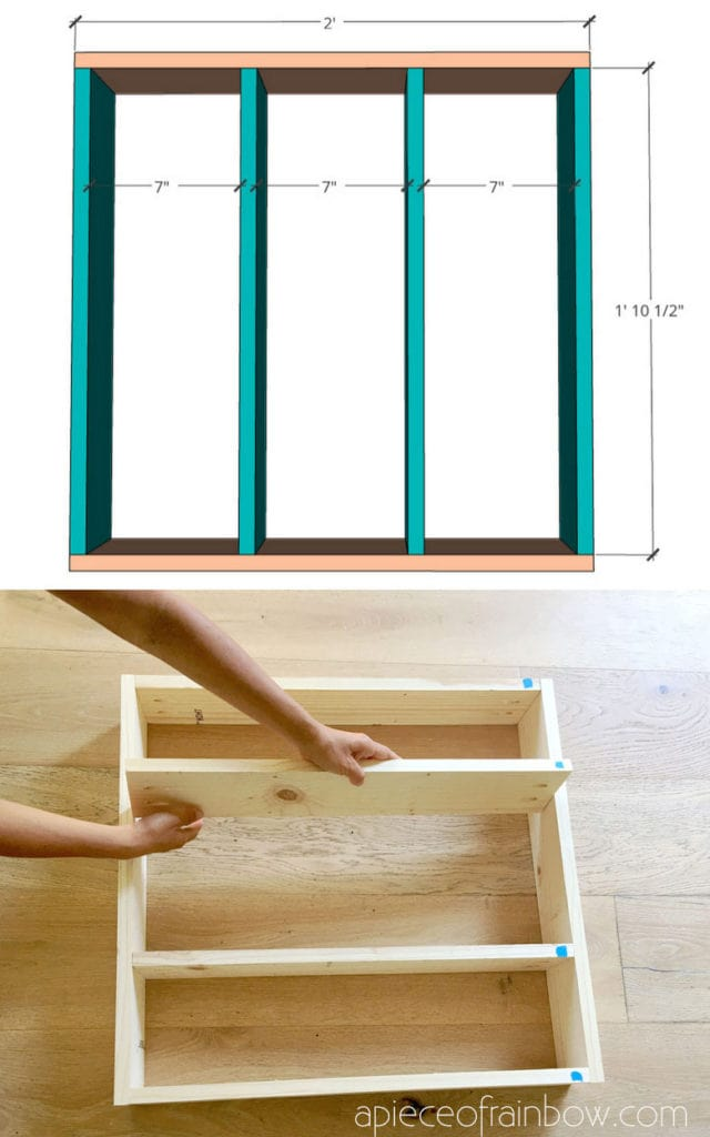 how to build DIY cubby wall shelf