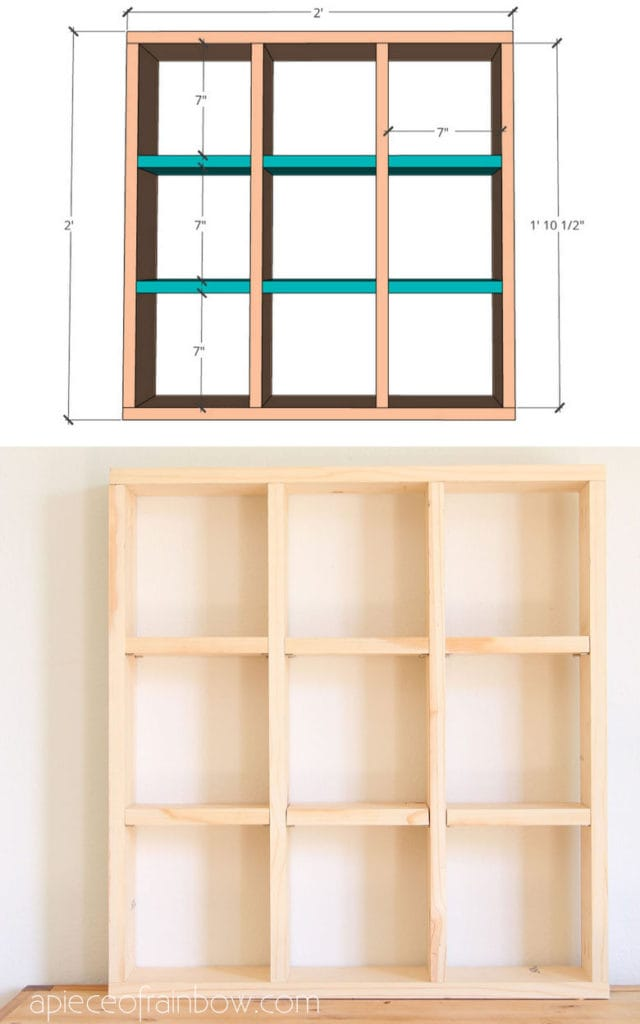 modern farmhouse display shelf,  &  free furniture building plan