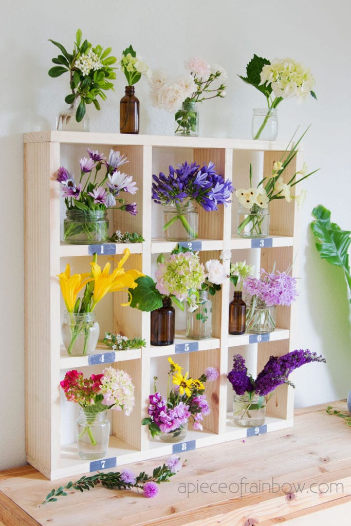 boho flower and plant shelf