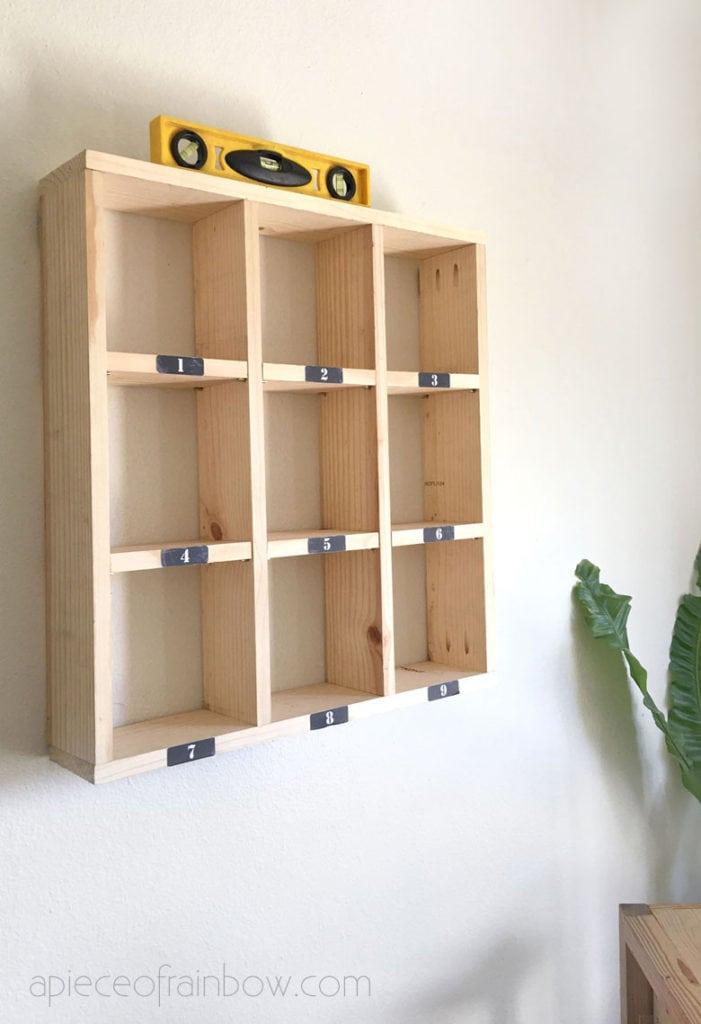 hanging floating wall shelf