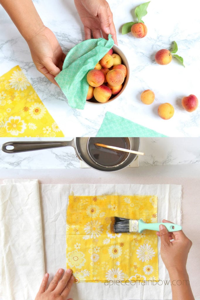 homemade zero waste eco friendly beeswax food wrap