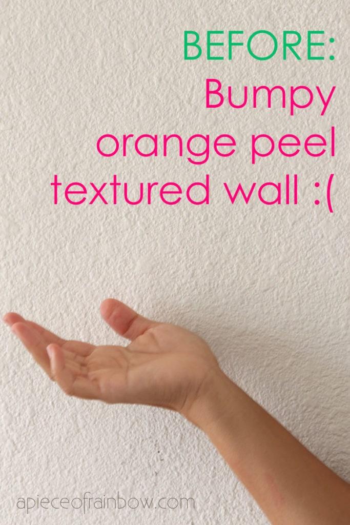 bumpy orange peel textured wall