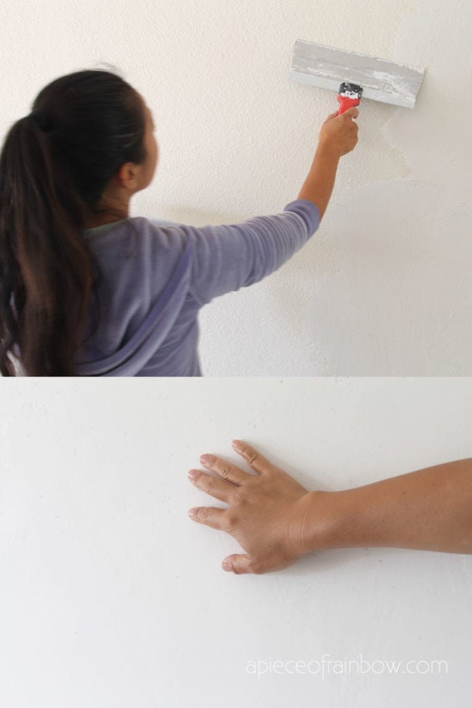 How to skim coat & smooth a textured wall