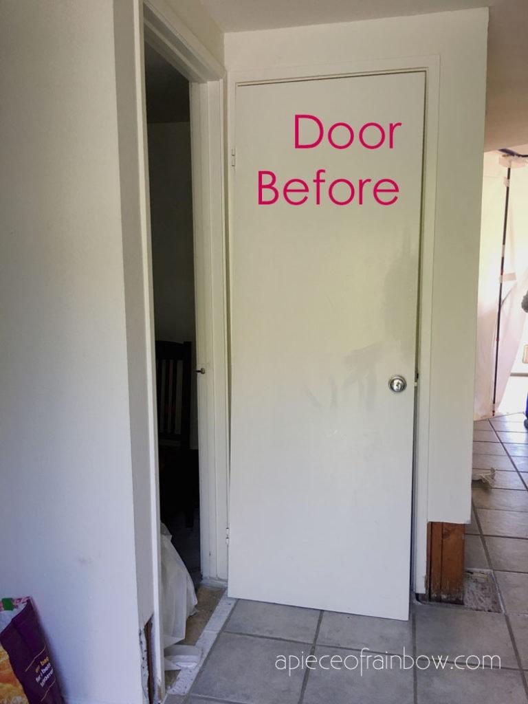 an old hollow core door
