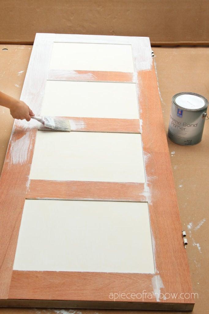 prime door for painting