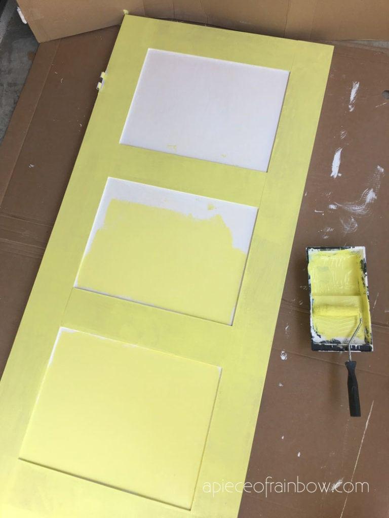 painting the panel door