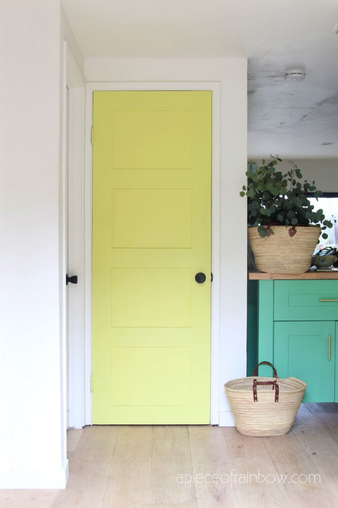 old hollow core door makeover in boho and farmhouse style