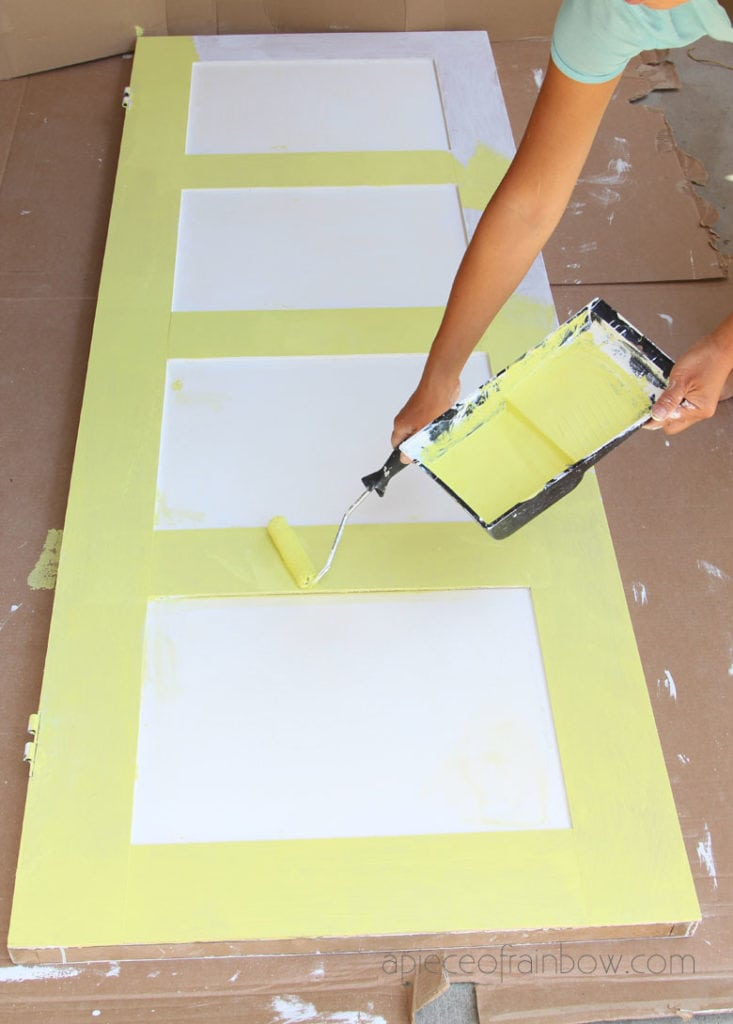how to paint a door with roller
