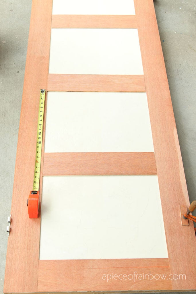 Measure  door and lay out design
