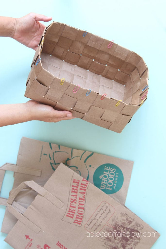 DIY up-cycled paper basket