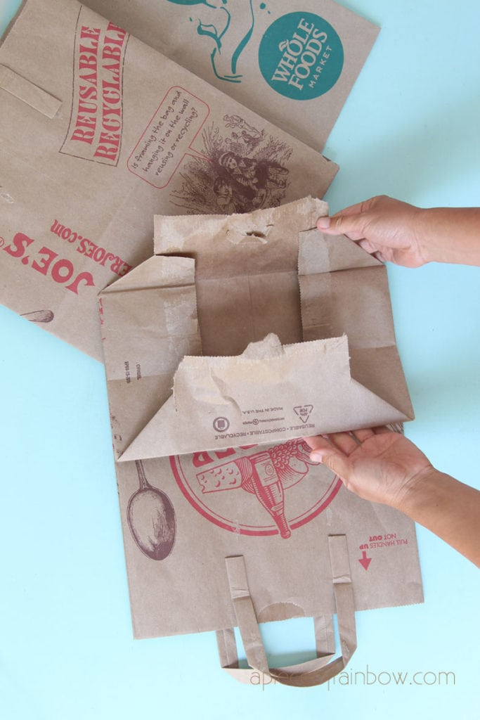 open up grocer paper bags