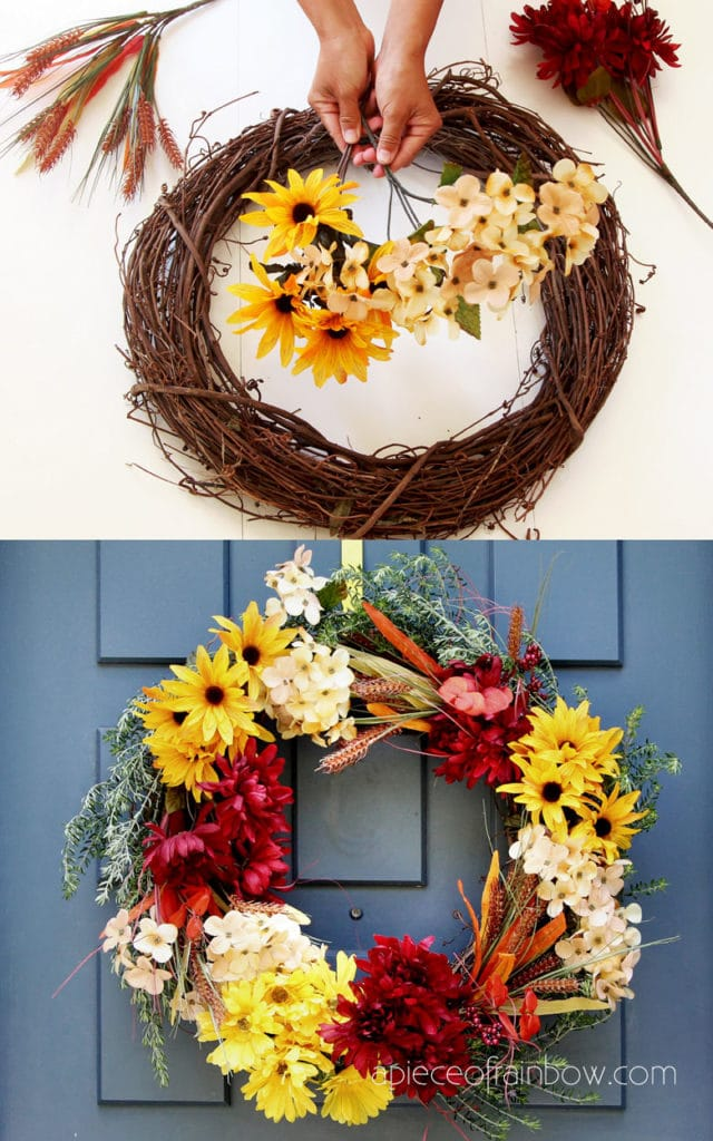 How to make wreaths with fake flowers