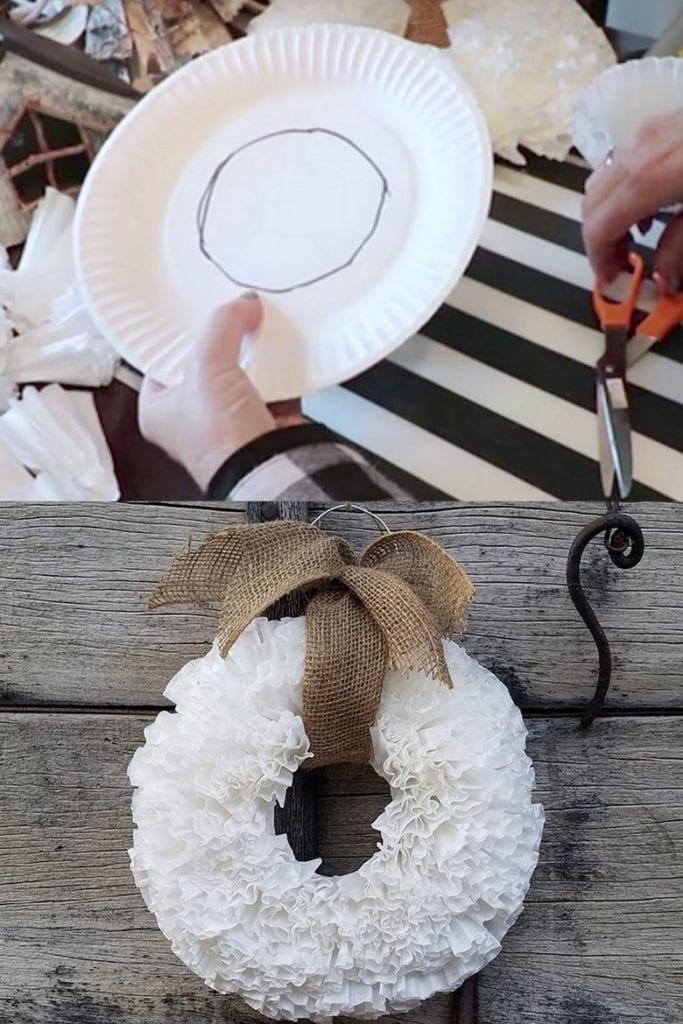 DIY coffee filter wreaths