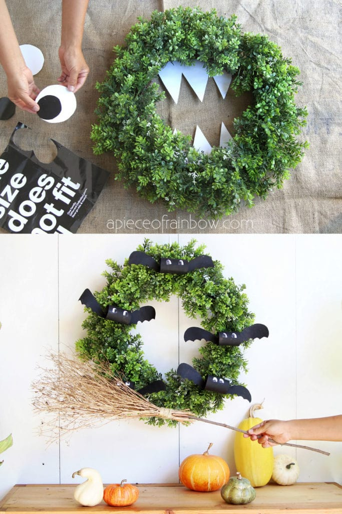 easy to make Halloween wreaths , great crafts for kids