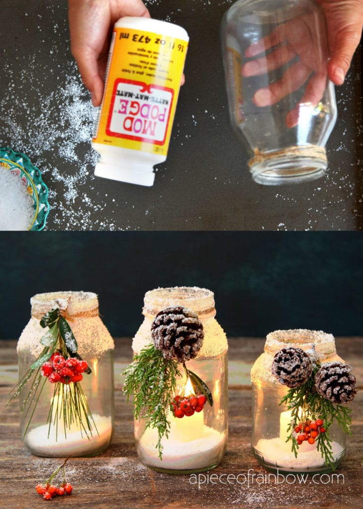 Enchanting DIY Pine cone and mason jar crafts