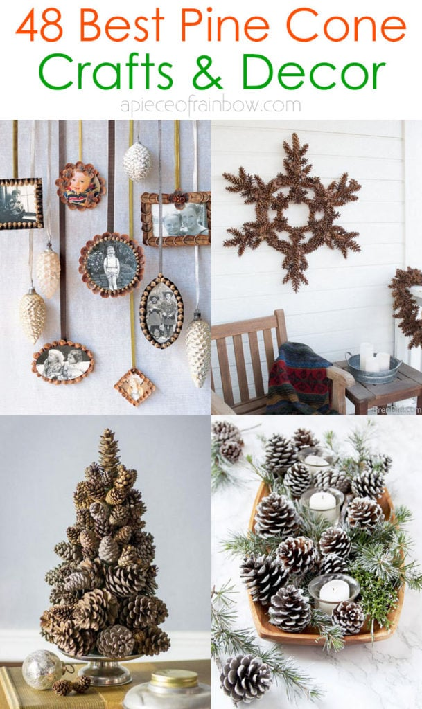 beautiful farmhouse pine cone decorations and craft ideas
