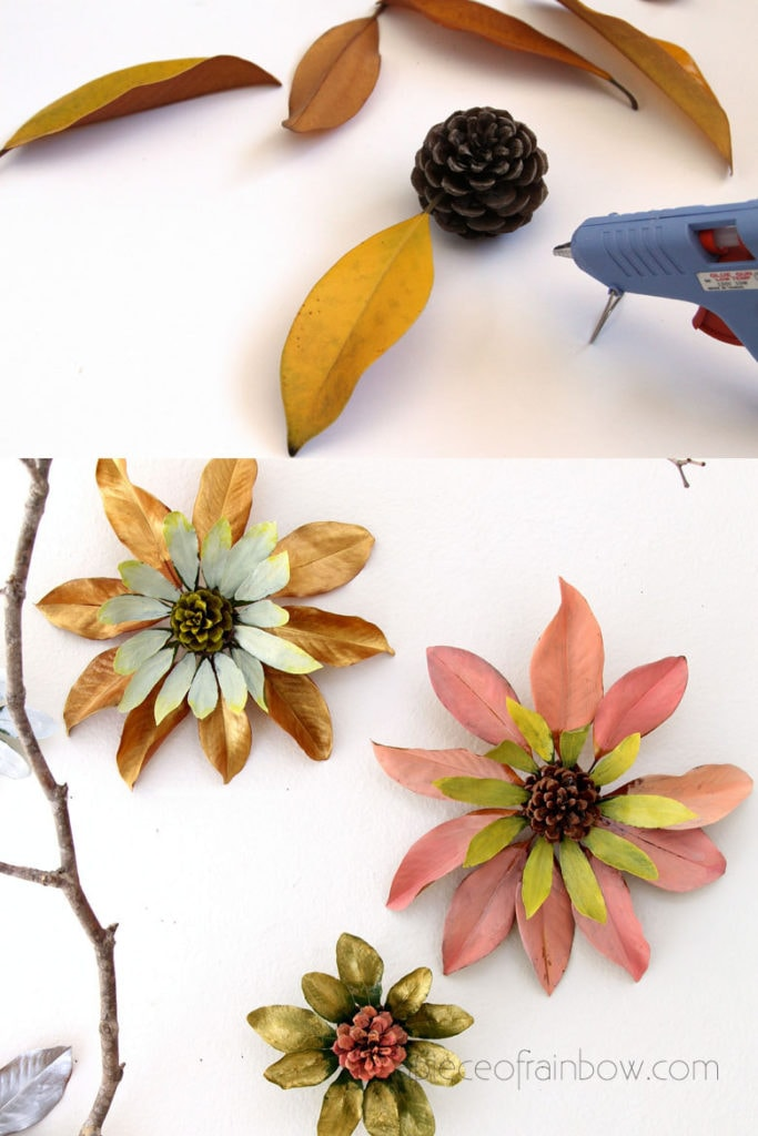 Make giant pine cone flowers