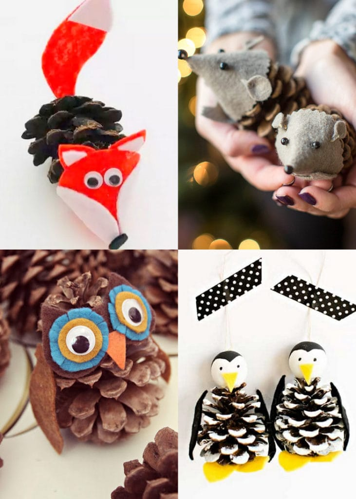 Make pine cone animals : fun crafts for kids