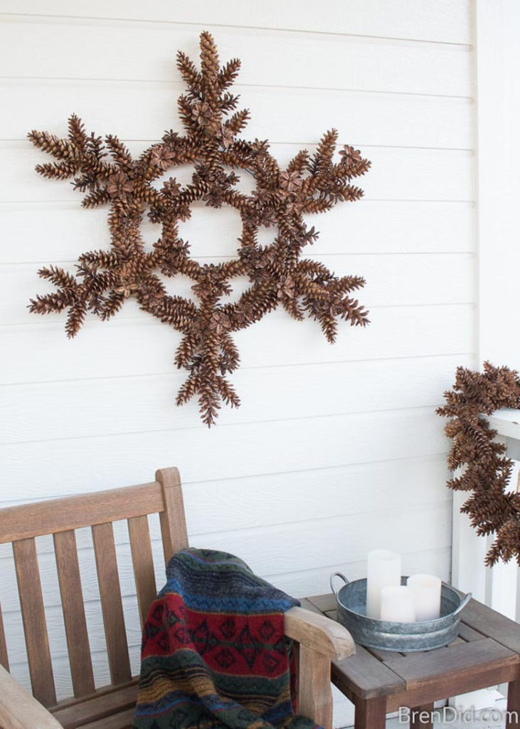 farmhouse DIY pinecone  wreath