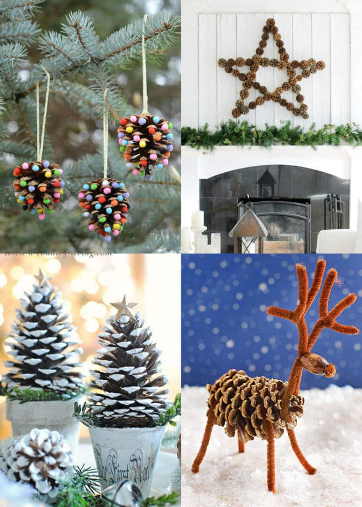 best pine cone Christmas crafts & decorations