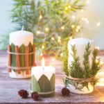 Make beautiful Christmas candles & decorations with aromatic cedar, bay leaves, cinnamon sticks, etc. Easy farmhouse décor, crafts, and great gift ideas!