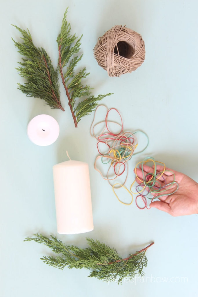 making candle decorations