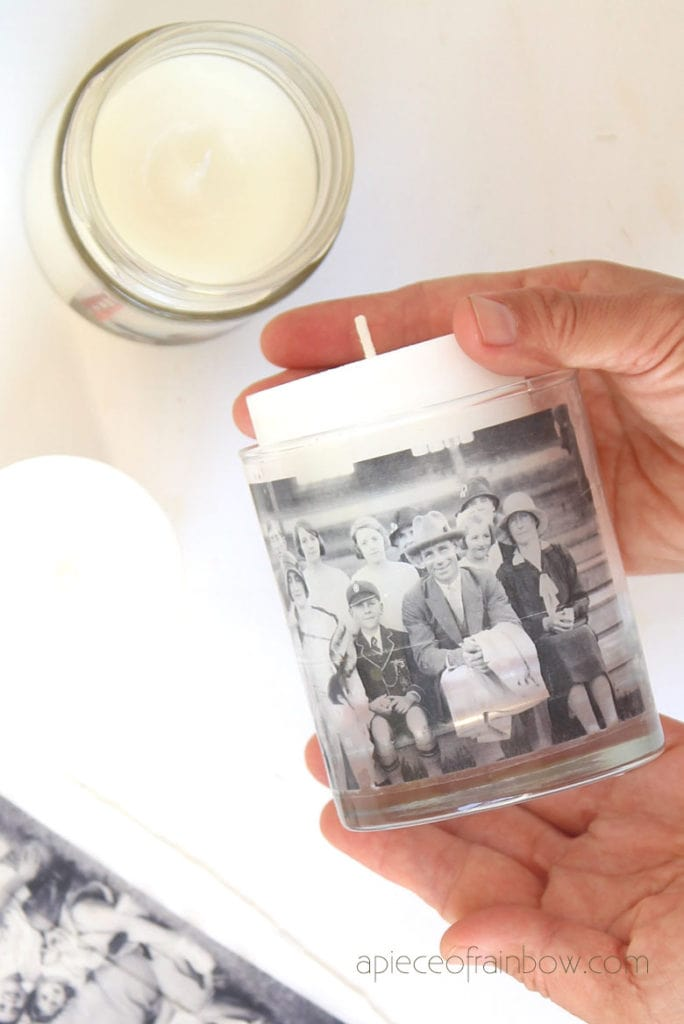 make photo candle holder