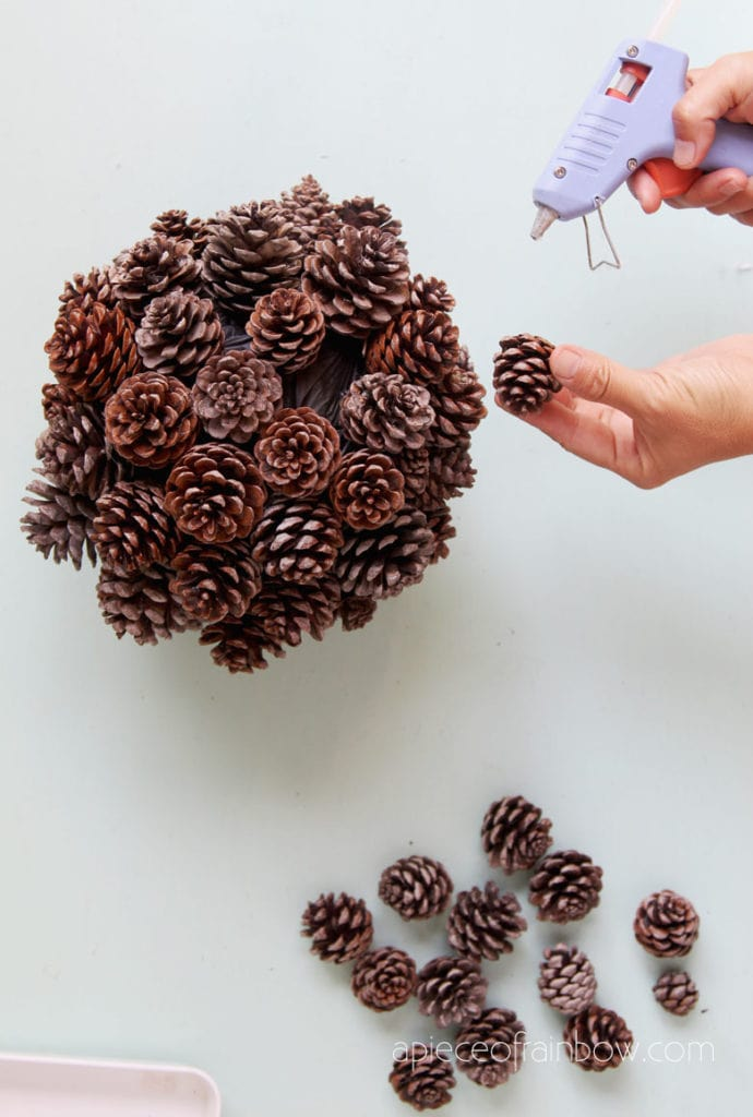 DIY pinecone ball