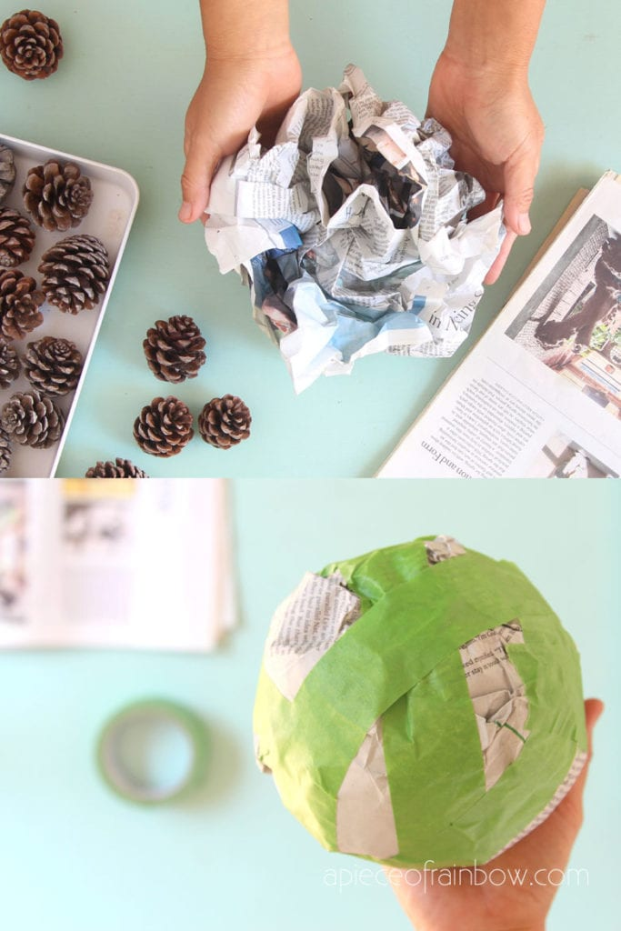 make a newspaper ball