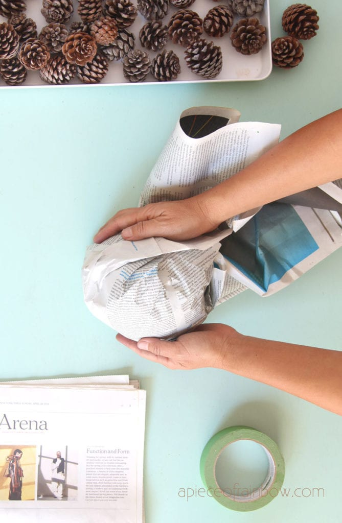 no need to buy craft foam ball, how to make one with paper
