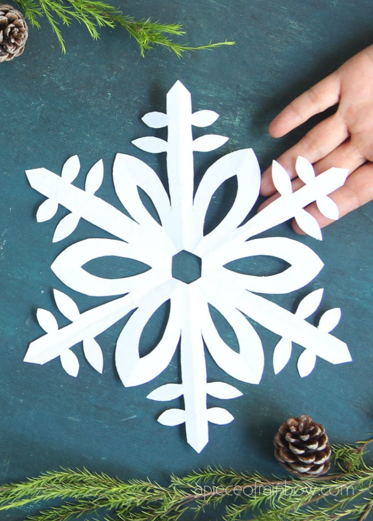 how to cut simple paper snowflake for kids
