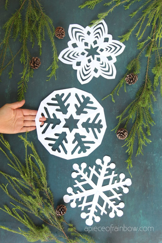 best paper snowflake free templates