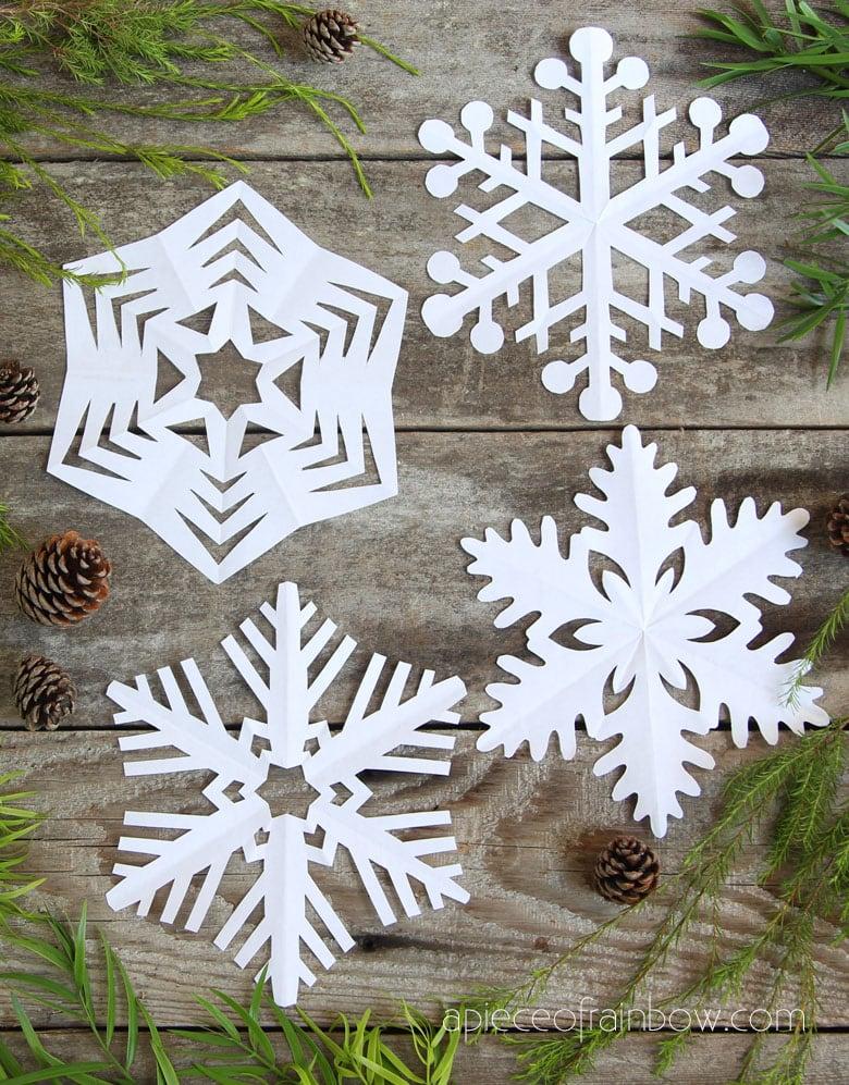 How to stiffen paper snowflakes.