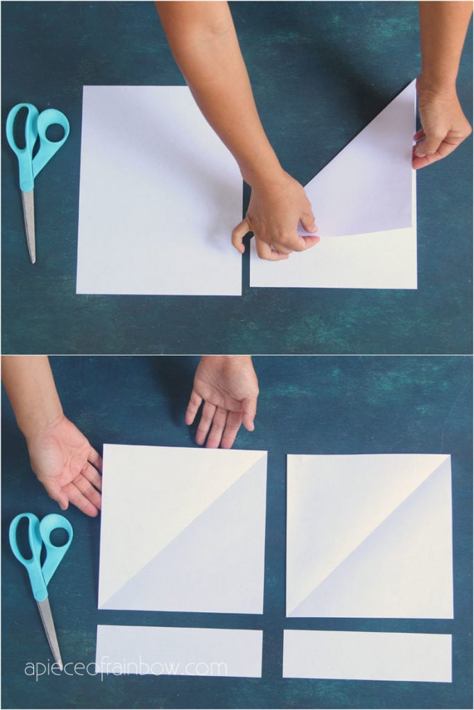 """make a square sheet of paper from rectangular  8.5"""" x 11"""" Letter size paper"""