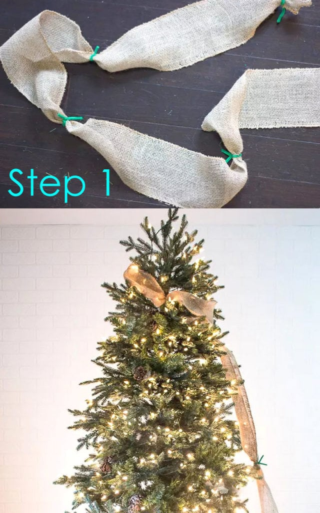 use ribbons to decorate a Christmas tree like a pro