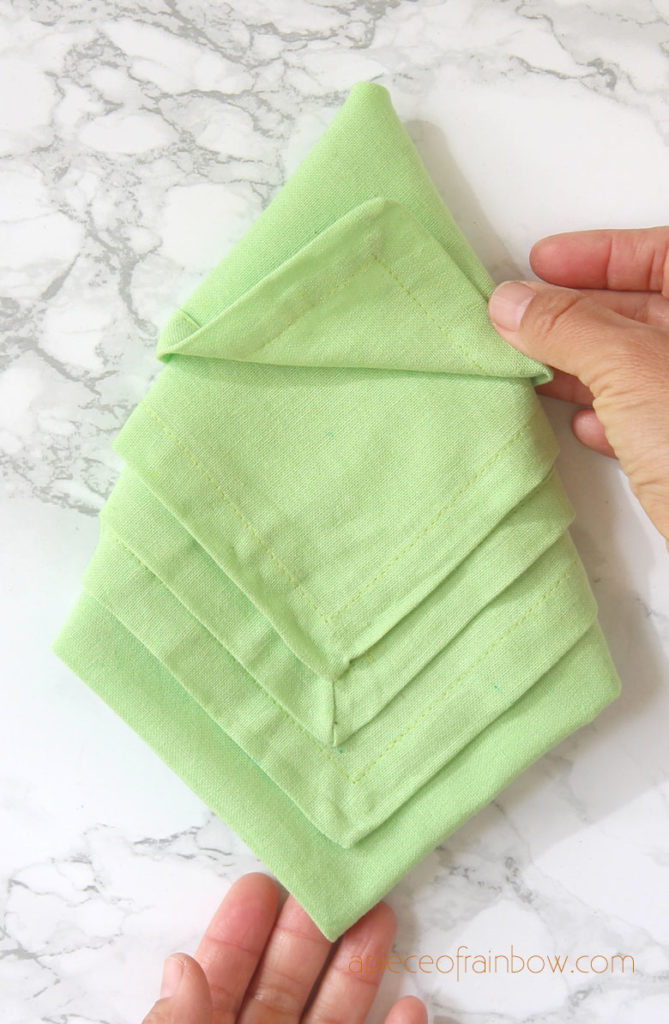 fold each flap over