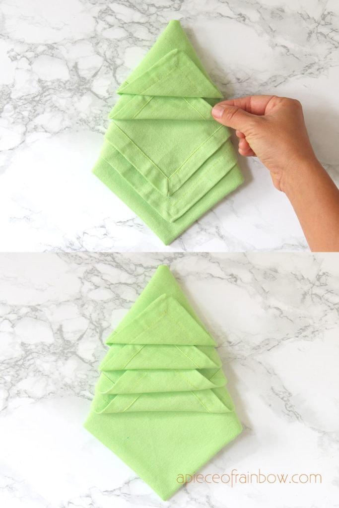 how to fold Christmas napkin