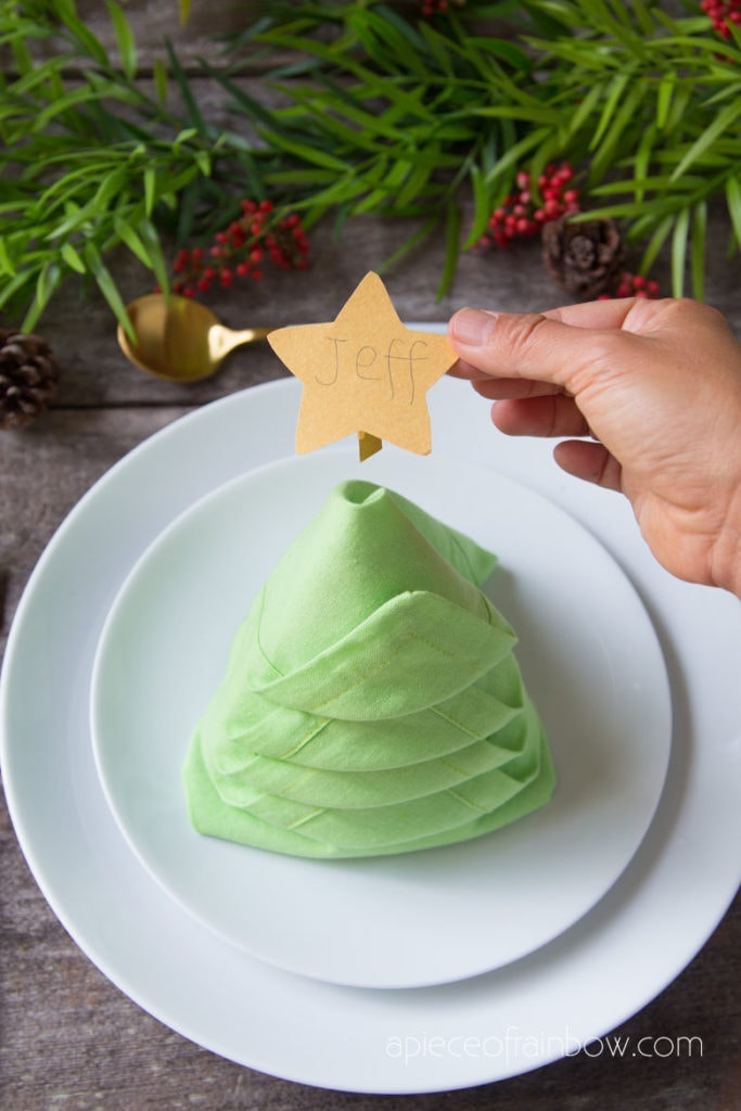 Christmas napkin fold ideas