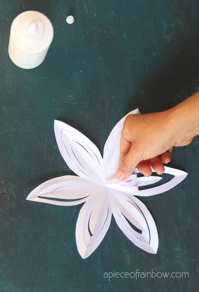 glue 3d paper snowflake