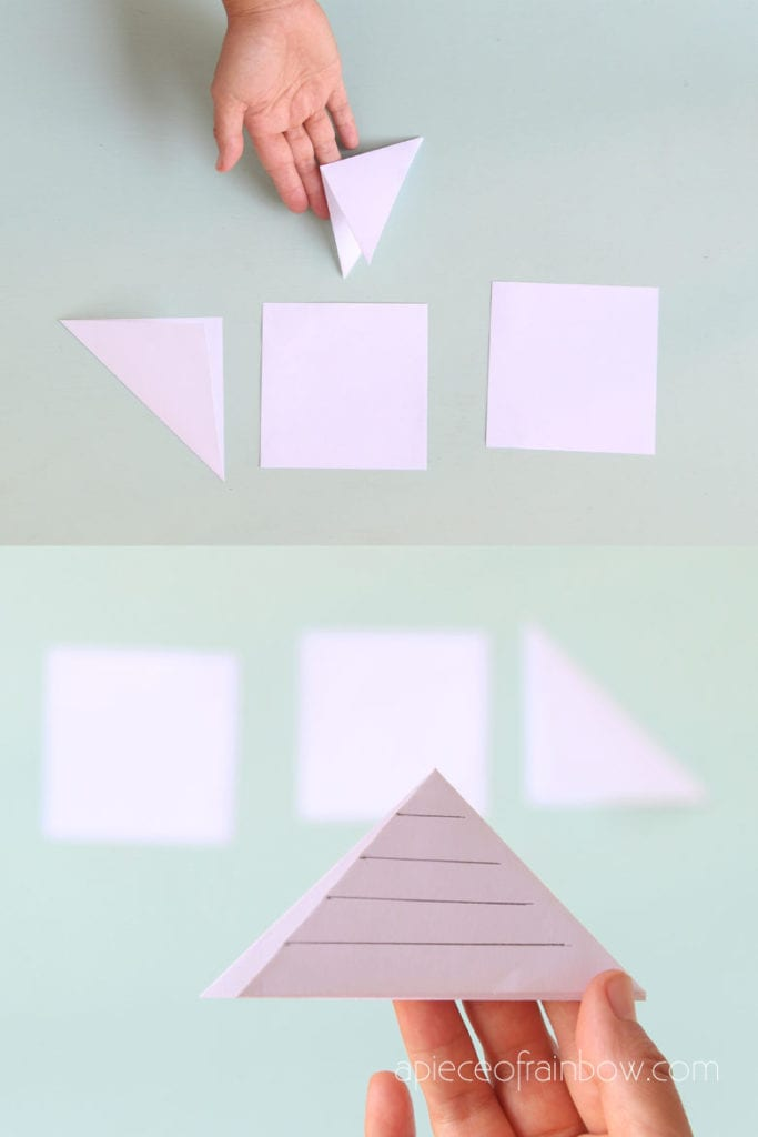 fold paper and draw design