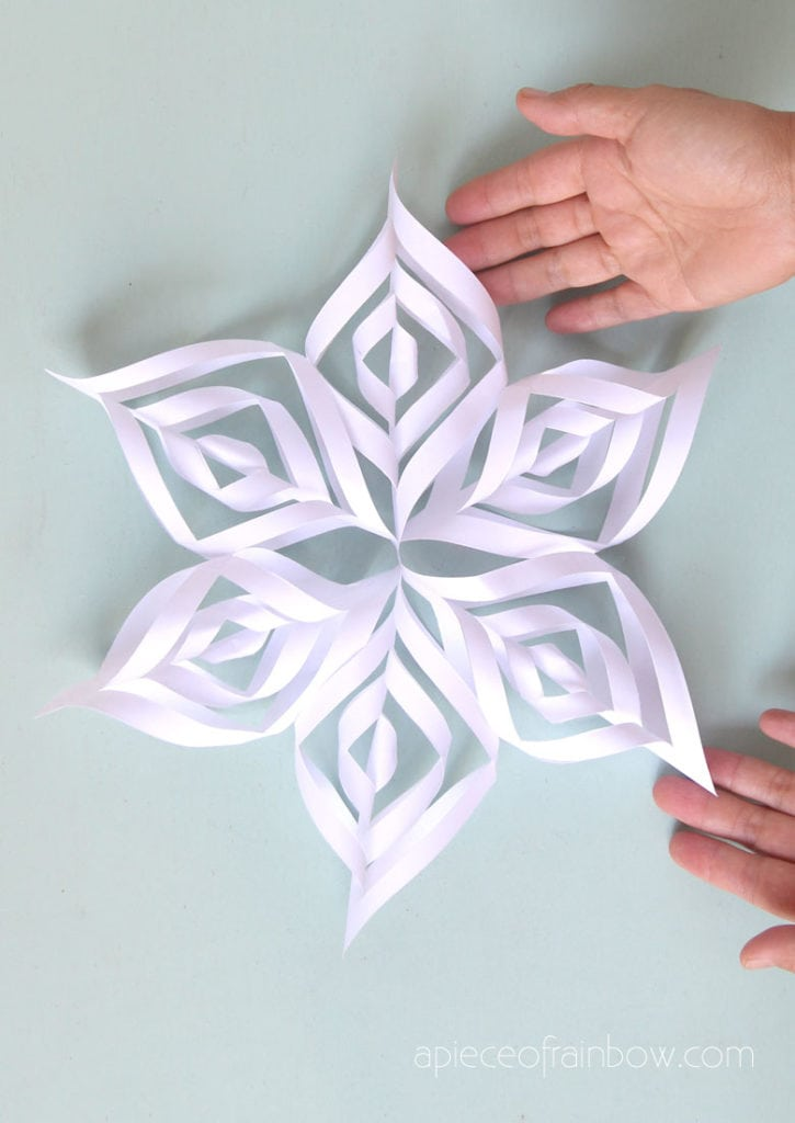 3d paper snowflakes for beautiful winter & Christmas decorations.