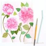 Make beautiful bubble painting Hydrangea flowers! Fun DIY dish soap paint recipe. Great kids art activity & easy beginner watercolor ideas!