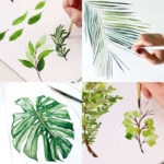 How to paint beautiful & easy watercolor leaves: 12 best art tutorials & videos on painting simple leaves, branches, tropical foliage, etc!